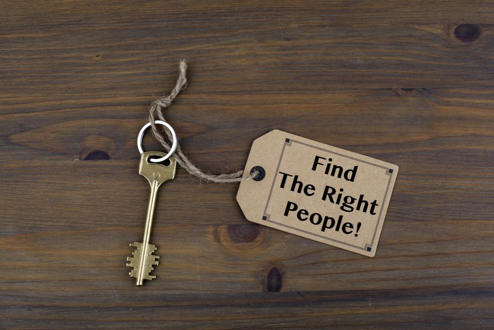 Find The Right People key tag